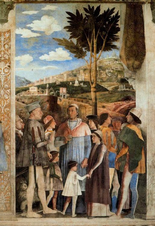 Tivoli nella camera picta di andrea mantegna a mantova for Camera degli sposi palazzo ducale