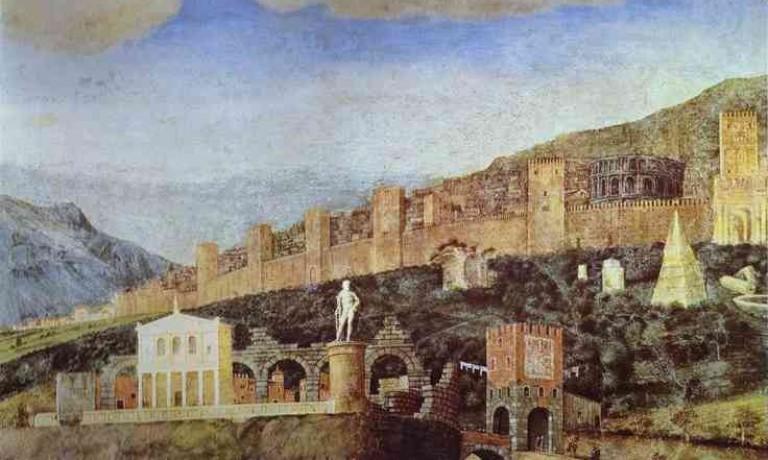 Tivoli nella Camera Picta di Andrea Mantegna a Mantova