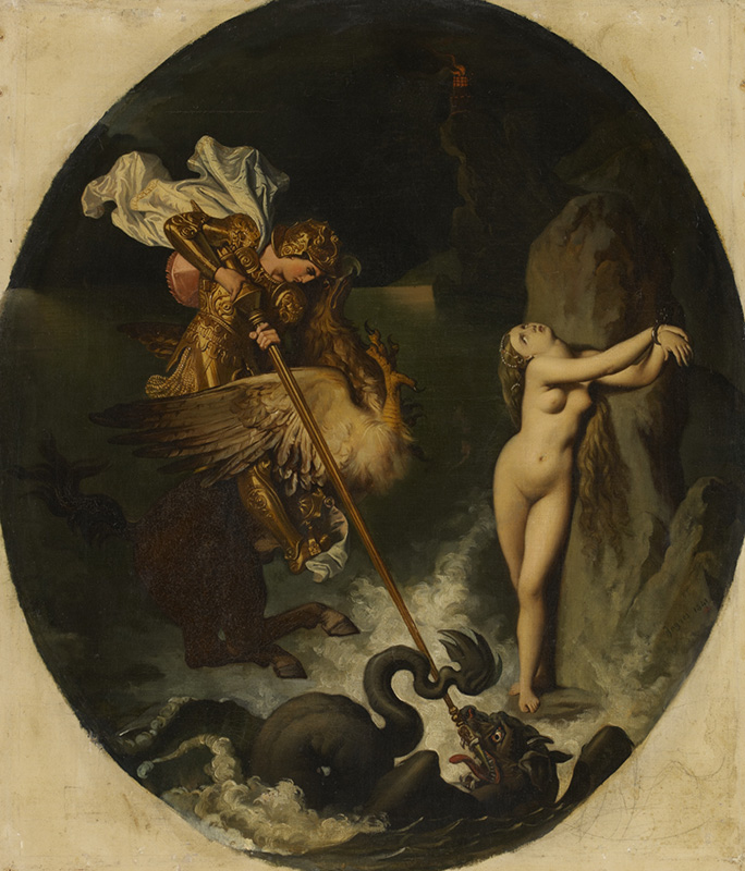 Jean Auguste Dominique Ingres Ruggiero libera Angelica 1841 Montauban, Musée Ingres