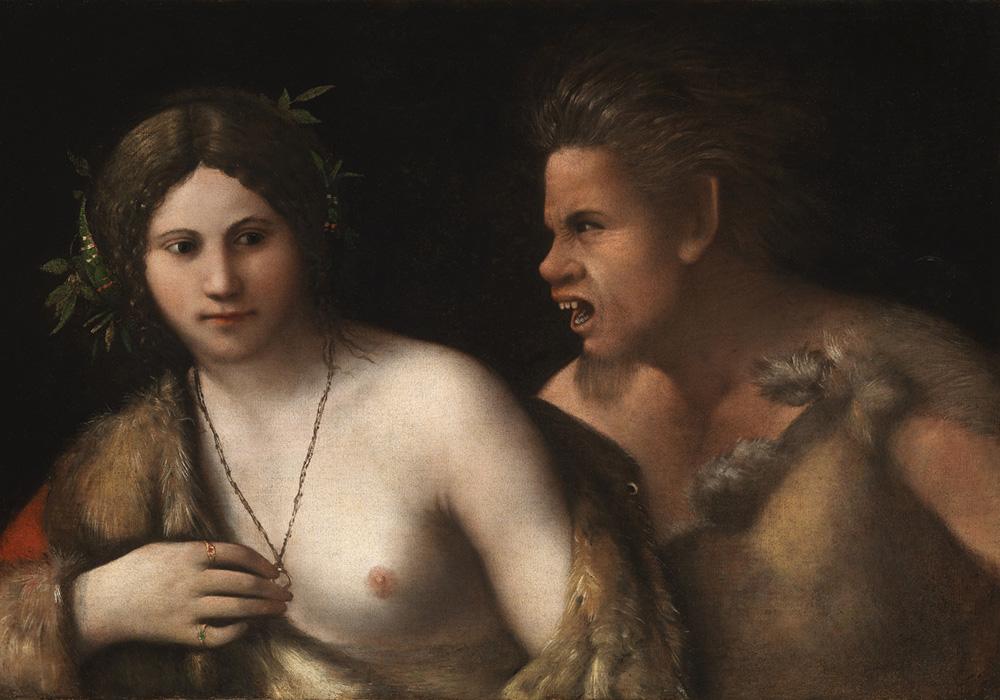 Dosso Dossi Angelica e Orlando furioso (già Ninfa inseguita da un satiro) Firenze, Galleria Palatina e Appartamenti Monumentali di Palazzo Pitti